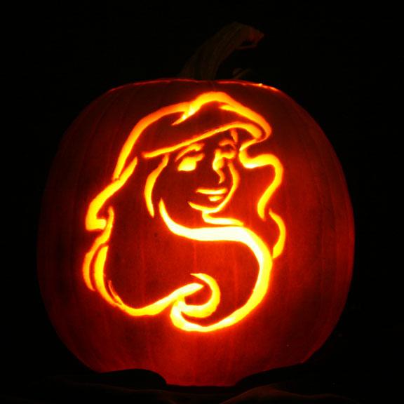 Disney ariel pumpkin stencils